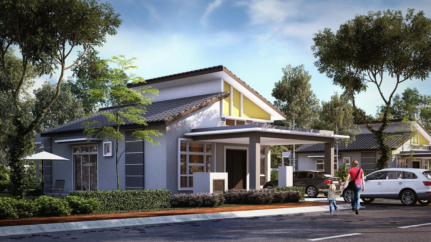 3d lot 106 padang sebang single sty bungalow 3